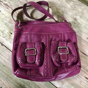 Tignanello convertible crossbody shoulder bag plum